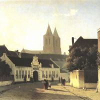 Weissenbruch Jan Street In A Dutch Town