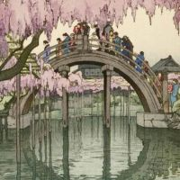 Yoshida Hiroshi Kameido Bridge Tokyo 1927
